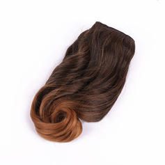 Straight Synthetic Hair Human Hair Weave (Sold in a single piece) 60g