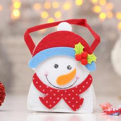 Merry Christmas Snowman Reindeer Santa Hanging Gift Bag Non-Woven Fabric Apple Bags