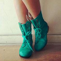 Επίπεδη φτέρνα Διαμερίσματα Κλειστά παπούτσια Μπότες Με Κέντημα-επάνω παπούτσια
