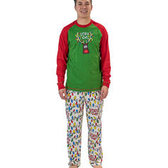 Deer Letter Cartoon Family Matching Christmas Pajamas
