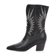 Жіночі ПУ Каблук Чоботи середньої довжини з Тваринний візерунок взуття