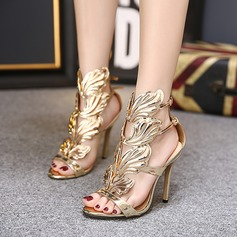 Women's PU Stiletto Heel Sandals Pumps shoes