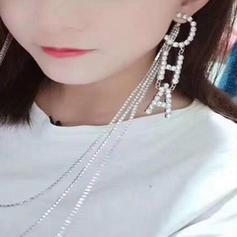 Stilvoll Legierung Strasssteine Frauen Ohrringe