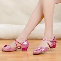 Kids' Latin Heels Sandals Sparkling Glitter Latin