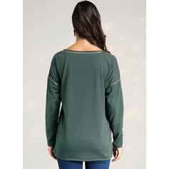 Print V-Neck Long Sleeves