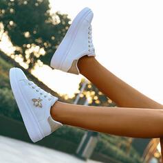 De mujer PU Casual al aire libre con Perlas de imitación Cordones zapatos