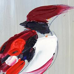 Modern Rechthoek Dierlijke schilderijen