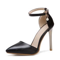 Femmes PU Talon stiletto Sandales Escarpins avec Chaîne chaussures