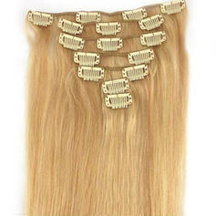 4A Non remy Straight Human Hair Clip in Hair Extensions 7pcs