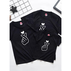 Print Familie Matchende T-shirts