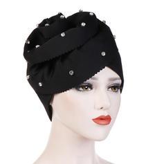 Señoras' Estilo clásico Algodón con Rhinestone Disquete Sombrero