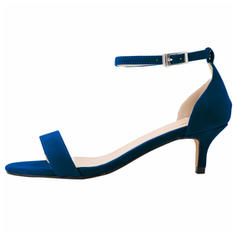 Femmes Suède Talon bas Sandales À bout ouvert chaussures