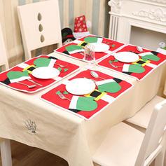 Feliz Navidad Tela no tejida Mantel individual