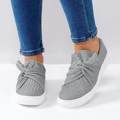 Kvinnor Tyg Flat Heel Platta Skor / Fritidsskor med Satäng Blomma skor