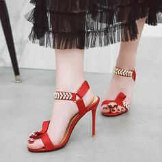 Femmes Tissu Talon stiletto Sandales Escarpins À bout ouvert Escarpins avec Boucle chaussures