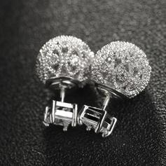 Elegante Diamantes de imitación cobre con Rhinestone Señoras' Pendientes de la manera