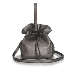 Solid Color PU Shoulder Bags/Bucket Bags