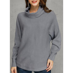 Solid Turtleneck Oversized Casual Loose Sweaters