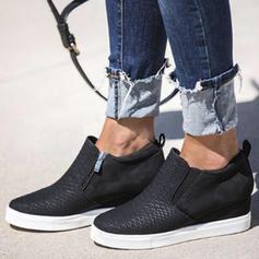 Frauen Stoff Lässige Kleidung Outdoor Sportlich mit Reißverschluss Schuhe
