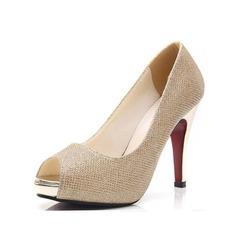 Women's Leatherette Stiletto Heel Sandals Peep Toe shoes