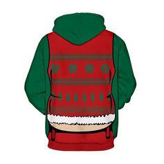 Unisex Mieszanki bawełny Wydrukować Świąteczna bluza