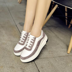Women's Suede PU Casual Outdoor With Lace-up shoes