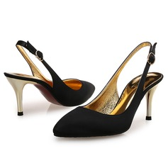 Women's Silk Stiletto Heel Pumps With Sparkling Glitter shoes