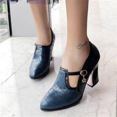 Donna Similpelle Tacco spesso Stivali alla caviglia con Fibbia scarpe