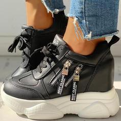 Vrouwen PU Casual Outdoor met Vastrijgen schoenen