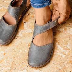 Mulheres Camurça Sem salto Sem salto Fechados com Velcro sapatos