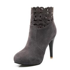 Femmes Suède Talon stiletto Bottines chaussures