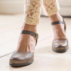 Naisten Keinonahasta PU Matalakorkoiset Heel Avokkaat jossa Solki kengät