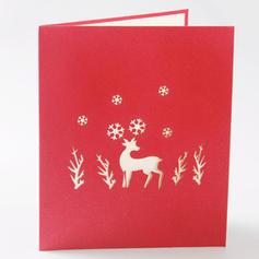 god jul reinsdyr 3D Med konvolutt Kort Papir Gratulasjonskort Postkort Invitasjoner