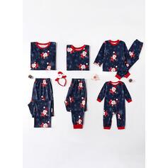 Σάντα Κινούμενα Σχέδια Οικογένεια Εμφάνιση Χριστουγεννιάτικες πιτζάμες