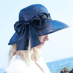 Signore Affascinante/Elegante Poliestere con Bowknot Beach / Sun Cappelli