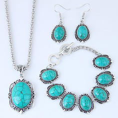 Fashionable Alloy Resin Ladies' Jewelry Sets
