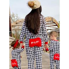 Plaid Print Family Matching Christmas Pajamas