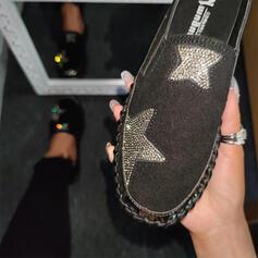 Mulheres PU Casual Outdoor com Strass sapatos