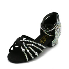 Women's Latin Sandals Satin With Imitation Pearl Latin