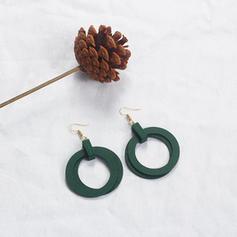 Alloy Wood Women's Fashion Earrings