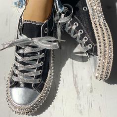 De mujer Lona Casual al aire libre con Rivet Cordones zapatos