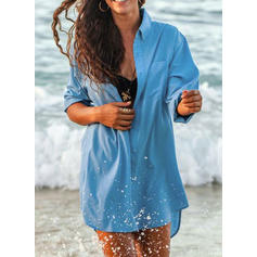 Solid Color Sexy Cute Cover-ups Swimsuits
