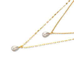 Charming Hottest Alloy With Imitation Pearl Necklaces