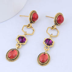 Vintage Alloy Rhinestones With Rhinestone Women's Fashion Earrings (Set of 2)