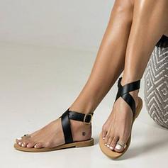 De mujer Cuero Tacón plano Sandalias Planos con Agujereado zapatos