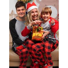 Deer Xadrez Impressão Família Combinando Natal Pijama