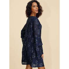 Print/Floral Long Sleeves/Flare Sleeves Shift Knee Length Casual/Elegant Dresses
