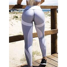 Color Block Geometric Print Long Long Skinny Print Yoga Leggings