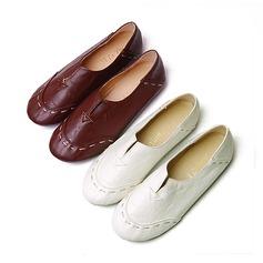 Femmes Similicuir Talon plat Chaussures plates Bout fermé avec Semelle chaussures