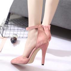 Жіночі Замша Шпилька Насоси з Блискавка взуття